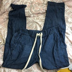 Splendid Striped chambray jogger style pants Sz m